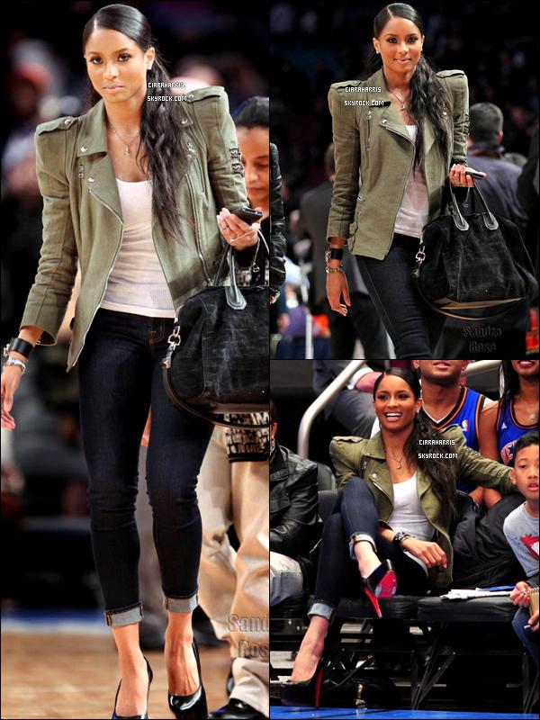 30/03/11: Ciara a assisté au match qui opposait les Nets aux Knicks à New York City. TOP ou FLOP? + Une vidéo datant du même jour dans laquelle Cici souhaite un joyeux anniversaire à l'un de ses fans qui était au match.