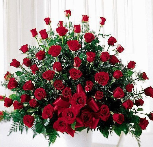 ces roses pour vous en notre amitié