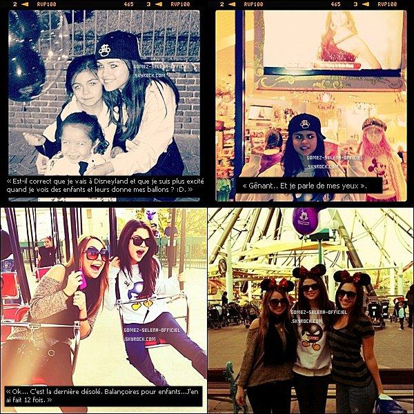 .  17  novembre 2011 : Selena était à Disneyland avec des amis en Californie. .
