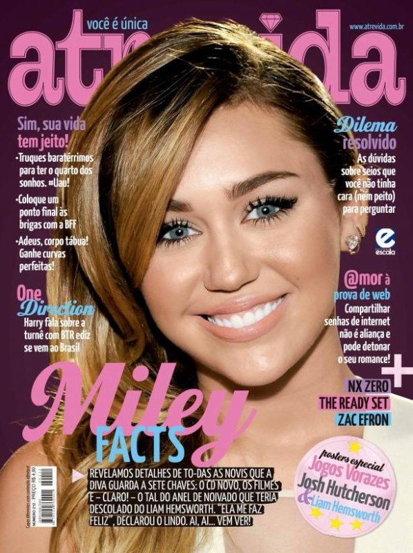 Les plus belles une de Miley Cyrus en 2012 !