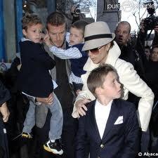 Toutes la famille Beckham à Paris !