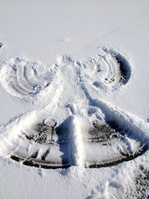 L'ange de la neige ...