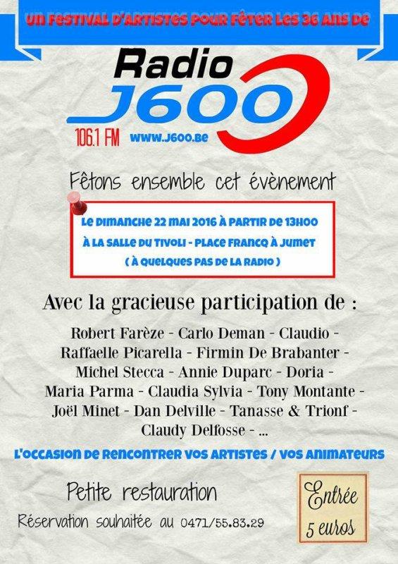 TRIONF & TANASE LE FESTIVAL DES ARTISTES 36 ANS DE RADIO J600