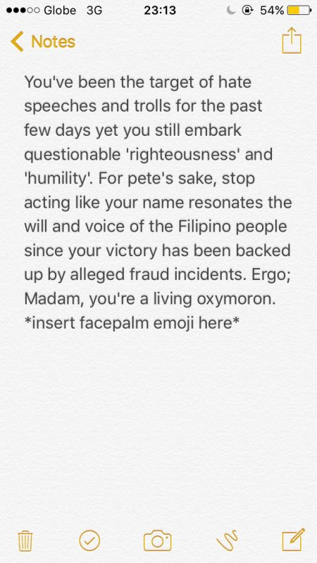 To our Honorable yet Questionable VP-Elect.