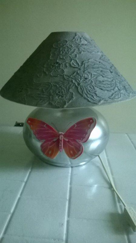 lampe grise chromée brillante