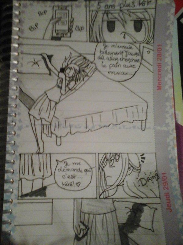 Une page d'un de mes mangas!