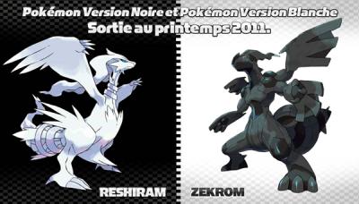 Pokemon Noir et Blanche DS va sortir !!!