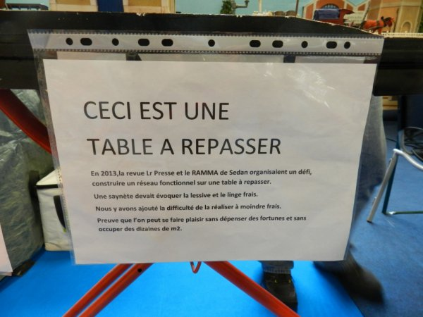 Ma visite à Tergnier Model'Expo 2016 - Les tables à repasser (1)