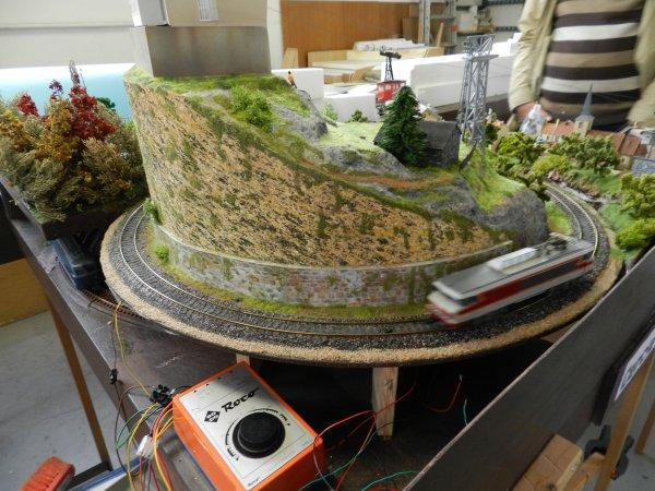 Ma visite au Cercle Ferroviaire de Nancy - Petite maquette de montagne (3)