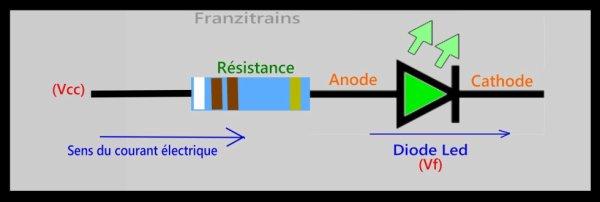 Mon réseau - mes activités - Comment fonctionne une led avec sa résistance chute de tension(1/9).