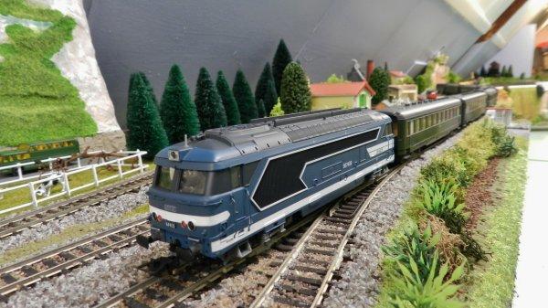 Mon résaeu - Mon résaeu - Rame de voitures ex:DR+loco BB67409 digitalisée dcc (2)