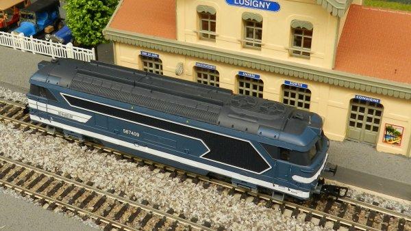 Mon résaeu - Rame de voitures ex:DR+loco BB67409 digitalisée dcc (3)