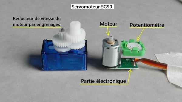 Mes montages - Modification d'un servomoteur en rotation continue à 360° (2)