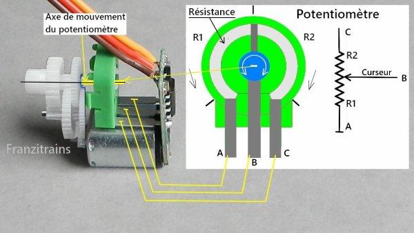 Mes montages - Modification d'un servomoteur en rotation continue à 360° (3)