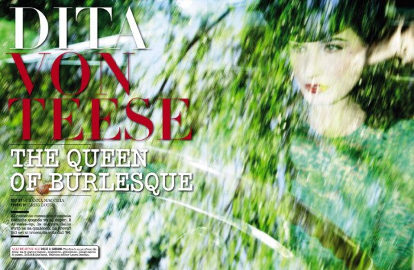 Dita dans le VOGUE ITALIE de Novembre
