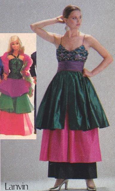 La mode des grands couturiers et la mode Barbie se rejoignent