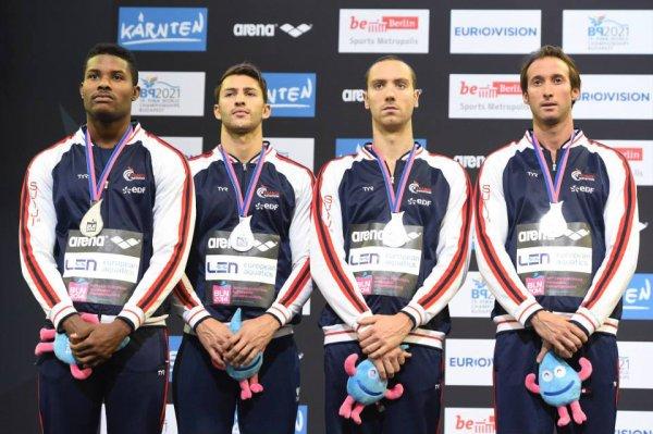 Relais 4x100m 4 nages : les Français décrochent la médaille d'argent