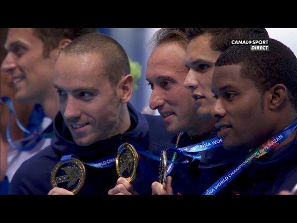 RELAIS 4x100 HOMMES - CHAMPIONS DU MONDE !