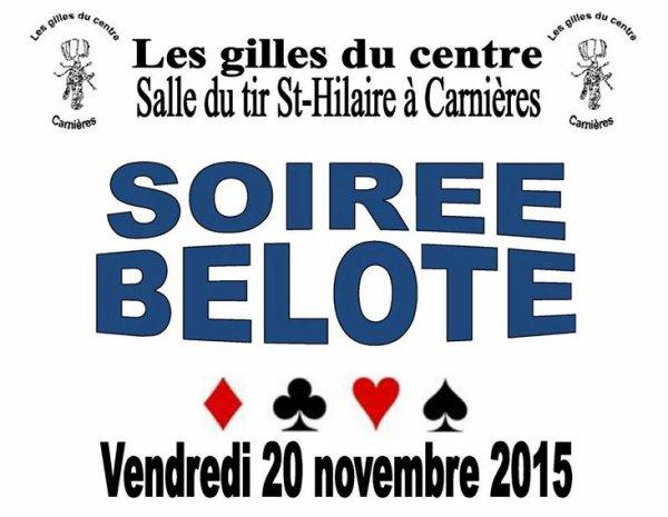 ****************************** Concours de Belote des Gilles du Centre ******************************