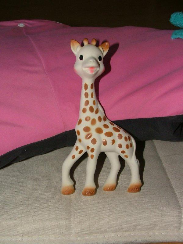 Sophie la girafe est arrivée !!