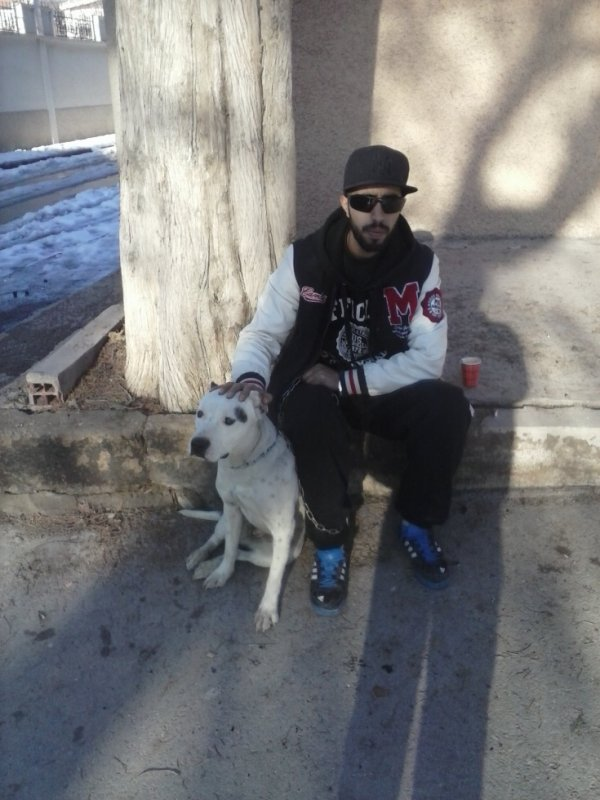 me & my dog !!