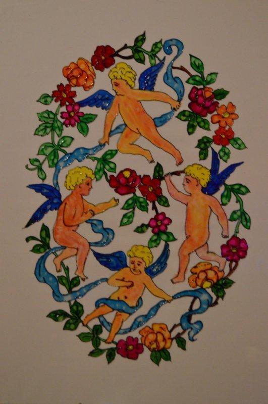 Peinture sur vitrail ( fait par moi méme )