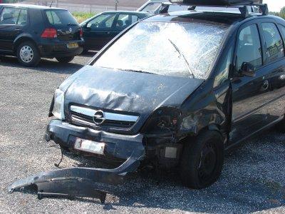 Crash de la voiture 1er juillet 2010