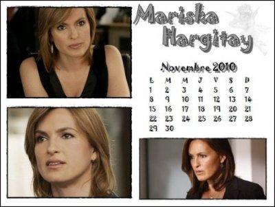 Mariska Hargitay calendrier 2010