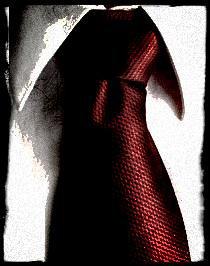 L'homme à la cravate bien serrée