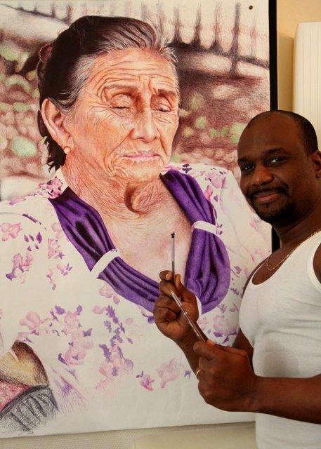 la vielle dame mexicaine au stylo bille