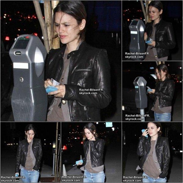 .  13 / 01 / 11 _  › Rachel quitte des bureaux dans West Hollywood  & Une interview pour BFF & Baby .