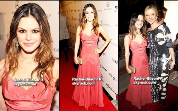 """.  16 / 01 / 11 _  › Rachel nous fait son 1er tapis rouge de l'année au Gala de Art Of Elysium """"Heaven"""" ."""