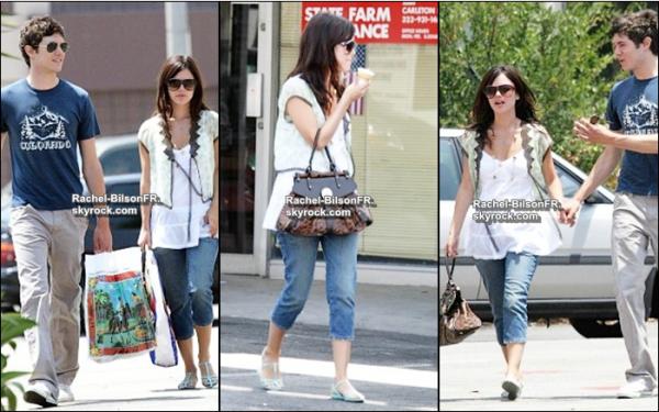 . › Rachel et le plus chou' de ses petits amis : Adam Brody , font du shopping !  ( Article Flashback )  .