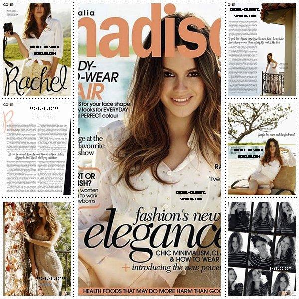 """. › Decouvrez la couverture du magasine """" Madison """" du mois de mars où Rachel est en couverture ainsi que quelques scans!."""