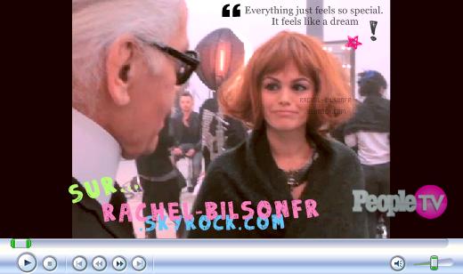 - 06.04.11. ---› Enfin des News de Rachel! Et pas rien! Une vidéo de notre actrice préférée à Paris vient d'être mise en ligne il y a quelques instants, Découvre une vidéo Behind The Scene de la pub Magnum, et des commentaires de Rachel. Enjoy! ;D -