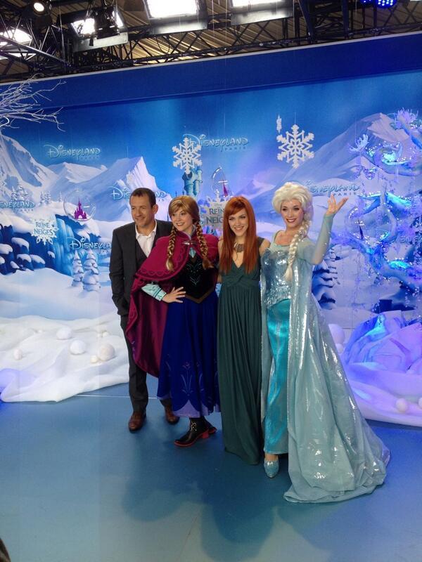 Dany Boon et Anais Delva assister lancement de la «saison de Noël» à Disneyland Paris