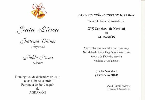 CONCIERTO DE NAVIDAD AGRAMON 2013