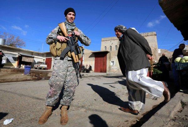 """En Irak, une milice chrétienne attire des """"cowboys"""" contre l'Etat islamique"""