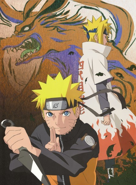 Naruto , Yondaime et Kyubi