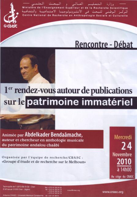 RENCONTRE- DEBAT    AU CRASC  D'ORAN