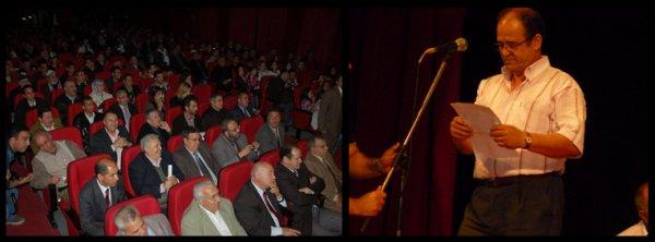 Mr Abdelkader Bendamèche, citoyen d'honneur de la ville de Béjaîa le 16 Juillet 2011.