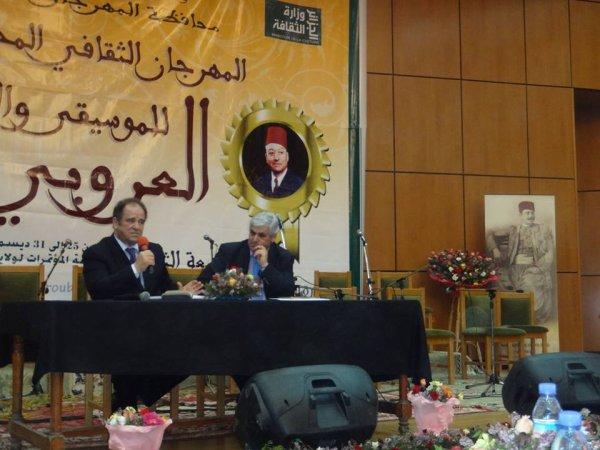 Abdelkader Bendamèche en conférence le 30 décembre 2013 à Blida