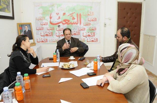 Abdelkader Bendamèche invité d'honneur du journal Echchaâb ce lundi 10 février 2014