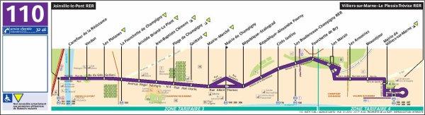 Ligne 110 Joinville-le-Pont RER ↔ Villiers-sur-Marne - Le Plessis-Trévise RER