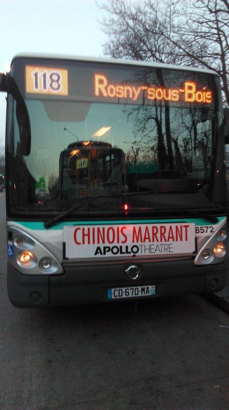 Ligne 118 Château de Vincennes ↔ Rosny-sous-Bois — Van Derheyden