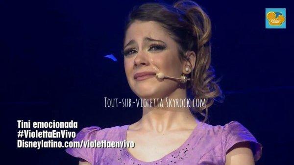 Martina pleure d'émotion...♥