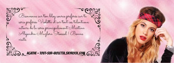 ∞ Bienvidos En Blog Di Violetta En Francia ♥ ∞