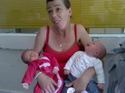 ma fille mn filleuille et sa tante ma belle soeur