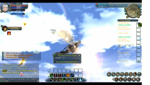 mon elfe en vole de coter tellement belle :)