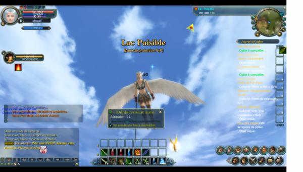 Mon elfe aile vus du dessous :)
